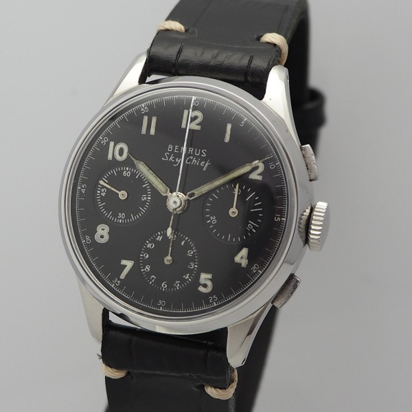 Benrus Sky Chief Valjoux 72 Vintage Chronograph