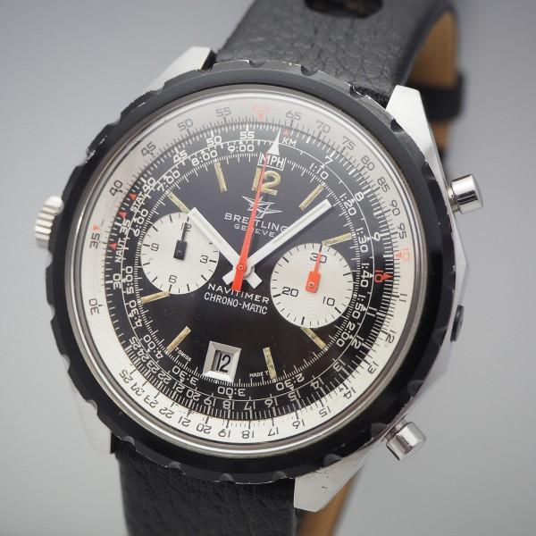 Breitling Chronograph Vintage Ref.1808 -Stahl/ Leder, Cal.11