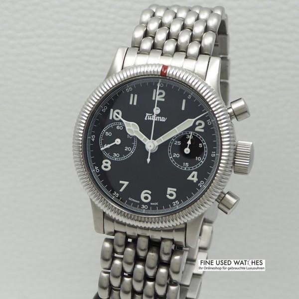 Tutima Flieger chronograph -Stahl/ Stahl, Box+ Papiere Ref.:1941