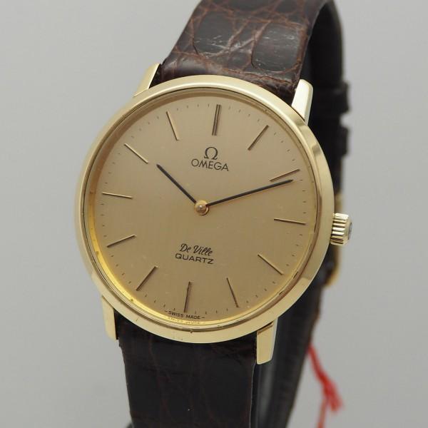 Omega De Ville Vintage Quartz Gold 18k/750, 1910044, rare