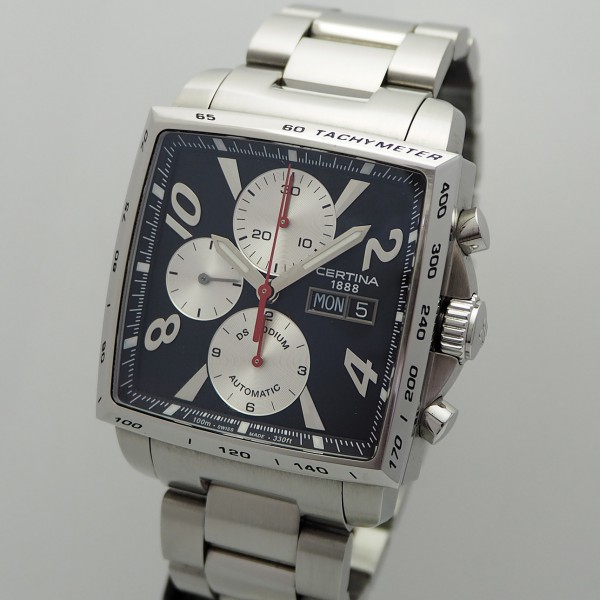 Certina DS Podium Chronograph Stahl/ Stahl, Box+Papiere