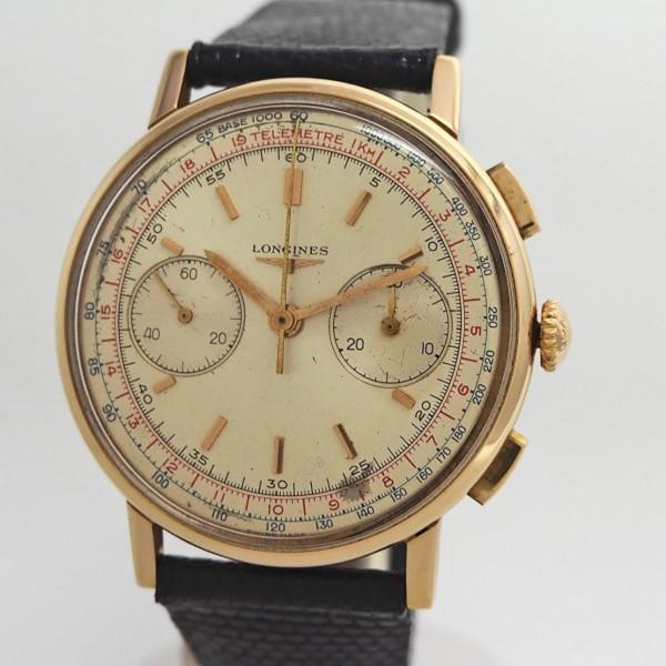 Longines Vintage Chronograph 30CH 18k/750/- Gold