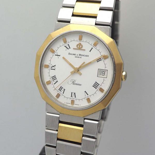 Baume & Mercier Riviera Ref. 5112 Stahl-Gold BM Box