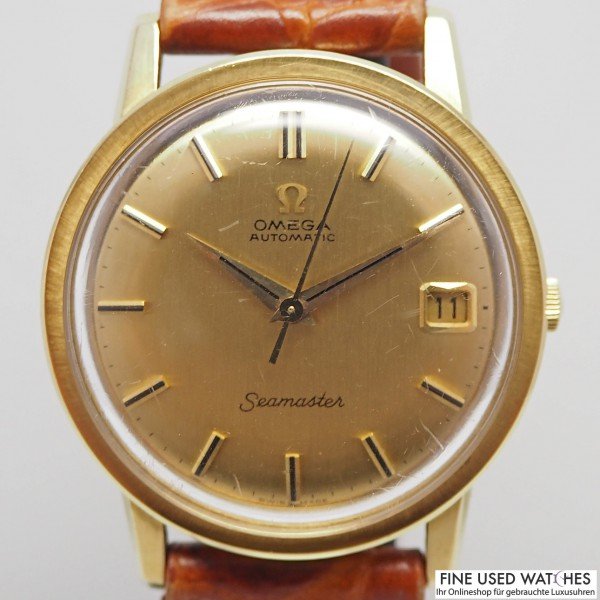 Omega Seamaster Ref.166 003 18k Gold Box und Papiere 1969