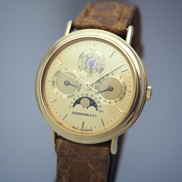 Eberhard & Co Perpetual Calendar/ Les Quantiemes, Gold 18k/750