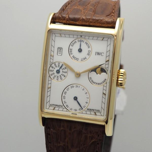 IWC Novecento Ewiger Kalender Gold 18k/750 - Box und Papiere